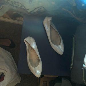 Women's memory foam pointed toed flats.